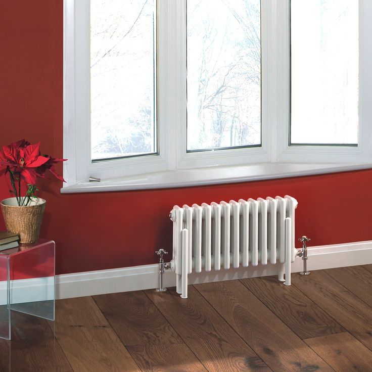 """hudson reed canada - free shipping in price  Traditional 13 x 3 Column Radiator Cast Iron Style 11.8"""" x 23"""" - White Powder Coat Finish"""