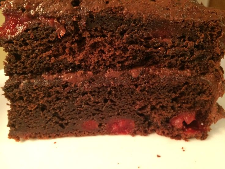 Cherry Chocolate Cake - from scratch