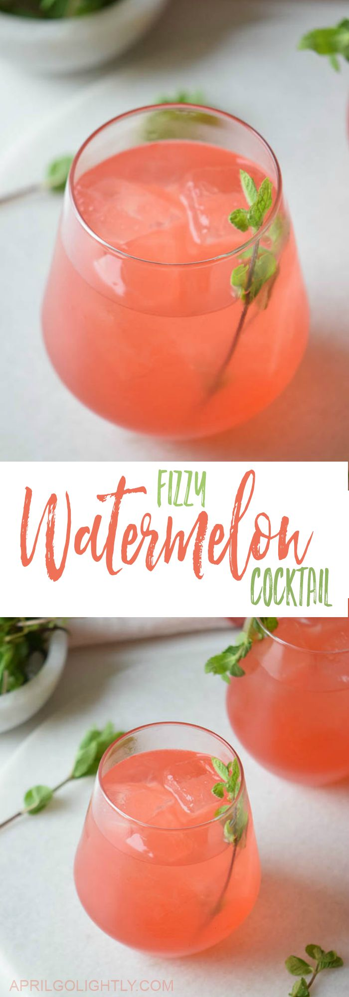 Easy to make with 3 ingredients Fizzy Watermelon Cocktail Recipe made with soda as a mocktail or with beer for a refreshing drink by the pool this summer