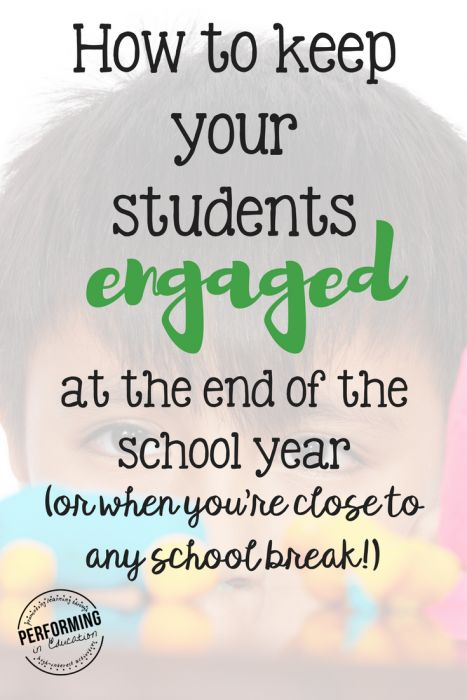 How to keep your students engaged - great tips for right before summer break or spring break or just when your class is in a slump!
