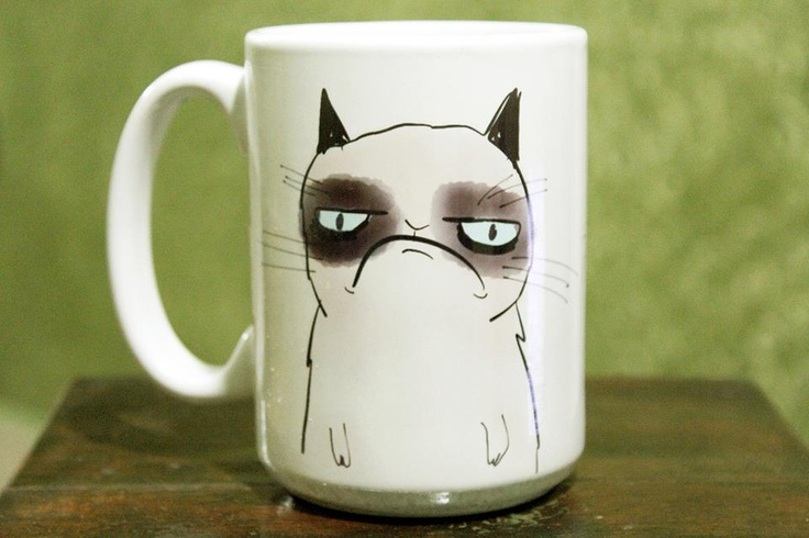 Buy the original mug, made in Brazil:  https://www.facebook.com/cafeinacanecas  #cafeina #canecas #mug #brazil #brasil #theoriginal #grumpy #cat