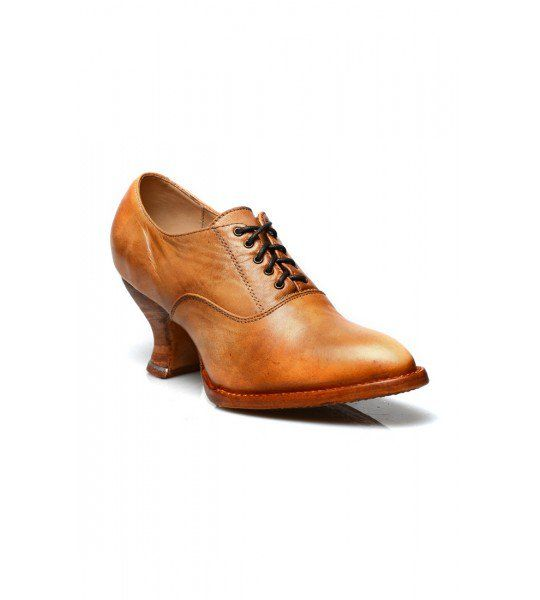 These Janet Victorian Style Leather Lace-Up Shoes in Natural Rustic by Oak Tree Farms are a vintage alternative to nude-colored pumps