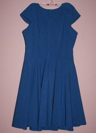 Kup mój przedmiot na #vintedpl http://www.vinted.pl/damska-odziez/krotkie-sukienki/16539566-chabrowa-krotka-sukienka-ze-zlota-nitka