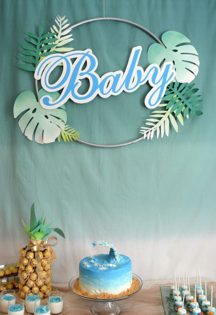Beach Themed Baby Shower With Images Ocean Baby Shower Theme