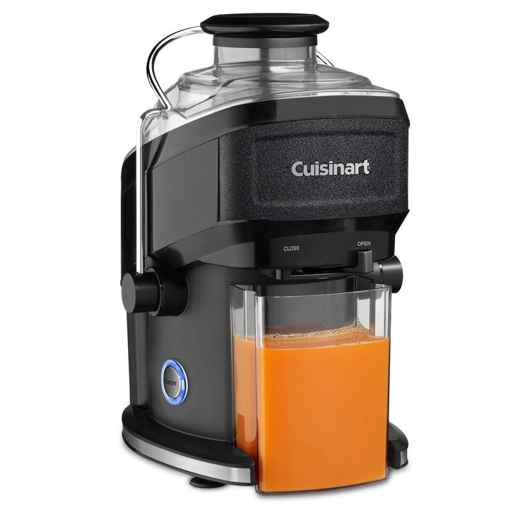 Get your daily dose of fruits and vegetables with this compact juice extractor, which captures 95 percent of the nutrients with its mesh filter and blade assembly. The Cuisinart CJE-500 features an adjustable flow spout and food pusher.