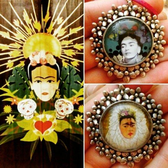 "Colgantes ""Frida"". (GloriArte143)"
