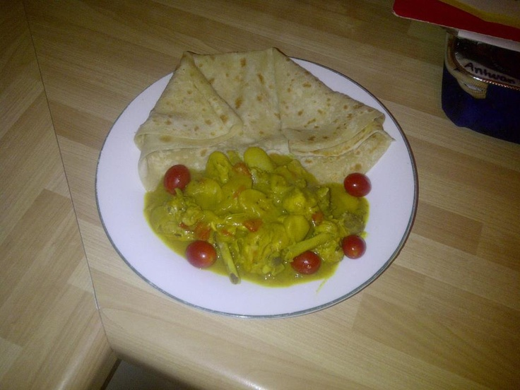 Curry Chicken and Roti...