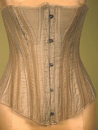 Embroidered Corset, 1880-1890 Session 2 - Lot 861