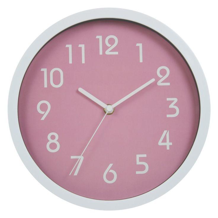 Binwo Modern Colorful Stylish Elegant Silent Non Ticking Home  Kitchen/Living Room Wall Clock 10 Inches (Pink) ❤ Binwo