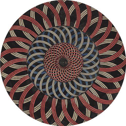 Zoetrope bottom disc - c. 1870