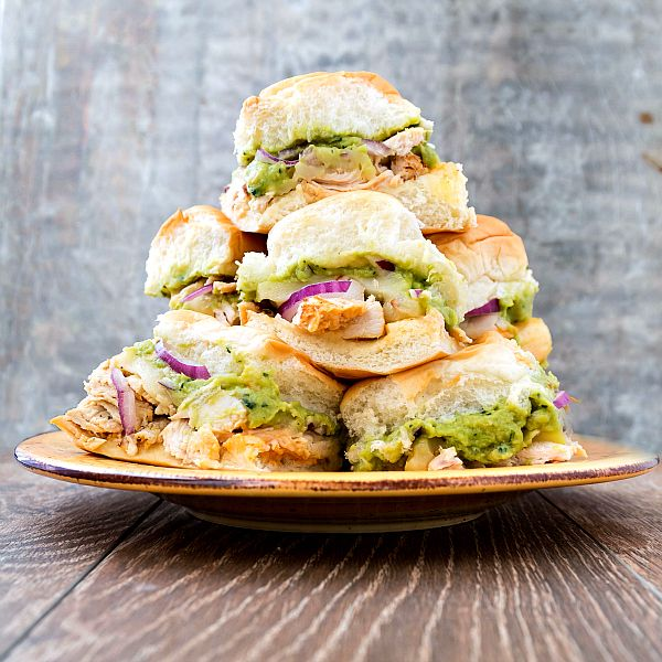 Kick things up a notch with these Spicy Chicken Guacamole Sandwiches that can be made as sliders, too!