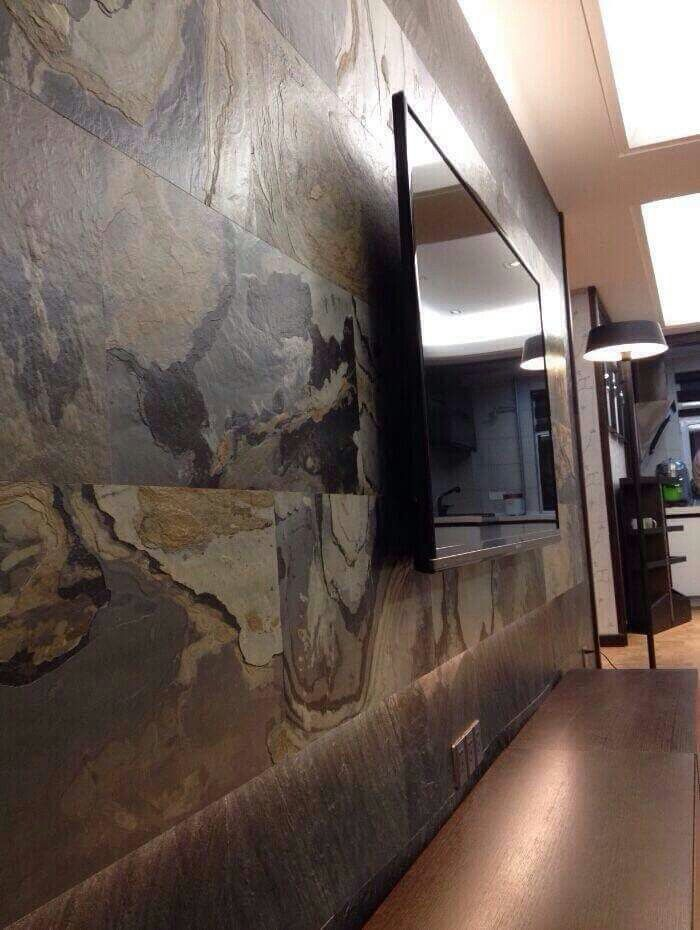 Beautiful natural stone veneer from Lite Stone makes for an excellent statement wall