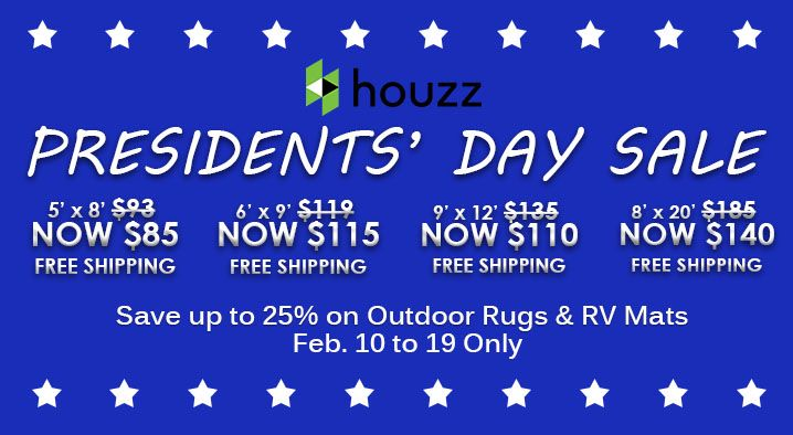 It's the Last 3 Days of the Presidents' Day Sale at Houzz. Hurry, catch it while it lasts! http://www.houzz.com/photos/rugs/seller--bbbegonia