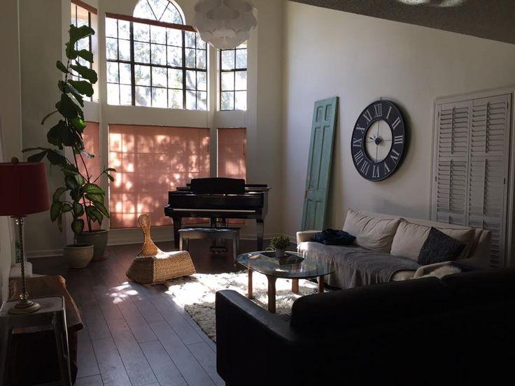 Grand piano. Living room.  Konmari.