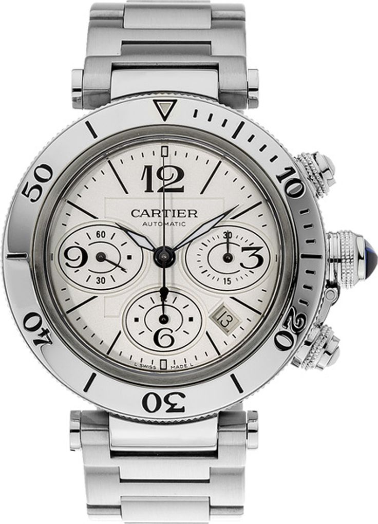 Discounted Cartier Pasha Seatimer Steel Watch W31089M7. FREE Overnight shipping. 100% Authentic Cartier Pasha Watches.