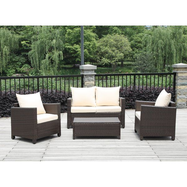 Belva 4 Piece Rattan Sofa Set