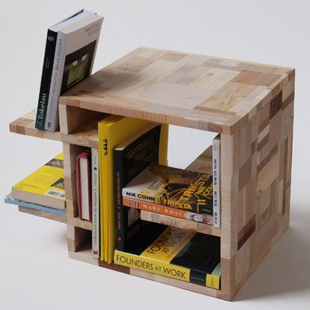 Patchwork Furniture from Recycled Wood Waste