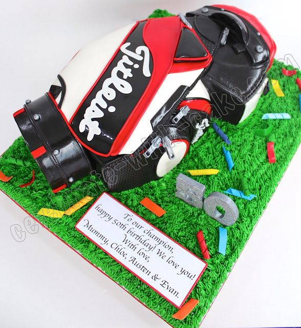 Celebrate with Cake!: Titleist Golf Bag Cake