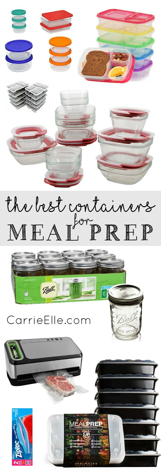 Best Containers for Meal Prep - lots of great containers here to make meal prep so much easier!