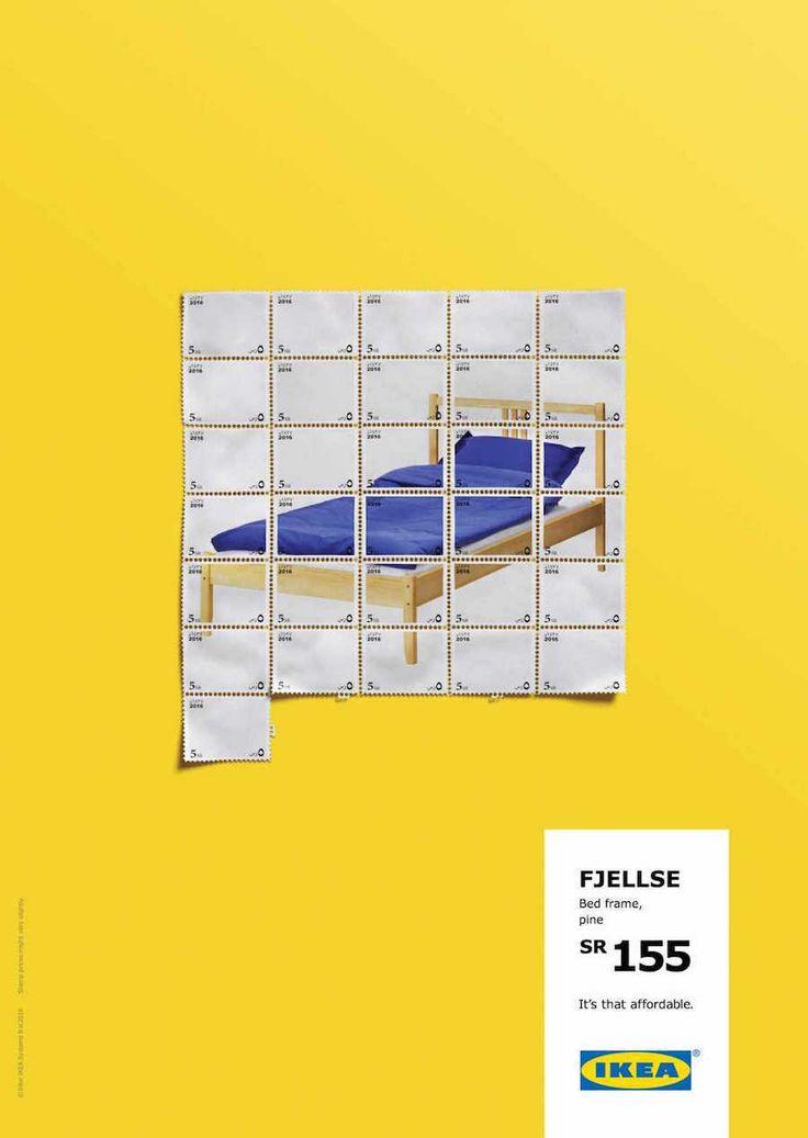 Campanha de mídia impressa feita pela Ogilvy & Mather lá da Arábia Saudita, para Ikea, comparando os produtos da loja com coisas muito baratas como cafés, refrigerantes, pasta de dente, pizza e selos de cartas.                      FICHA T...