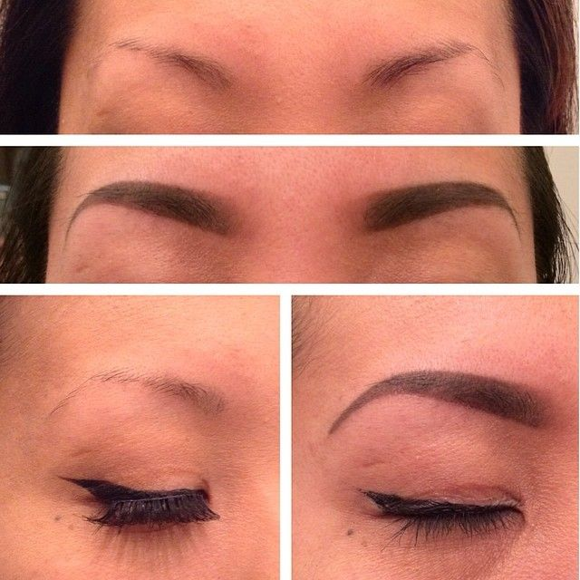 Pictures Of Eyebrow Tattooing Before And After Microblading Before