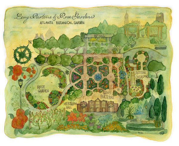 quite a beautiful map of atlanta botanical garden
