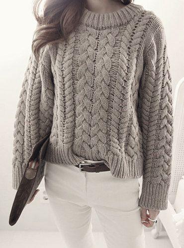 noirettediary: Свободный трикотажные свитера - здесь магазин