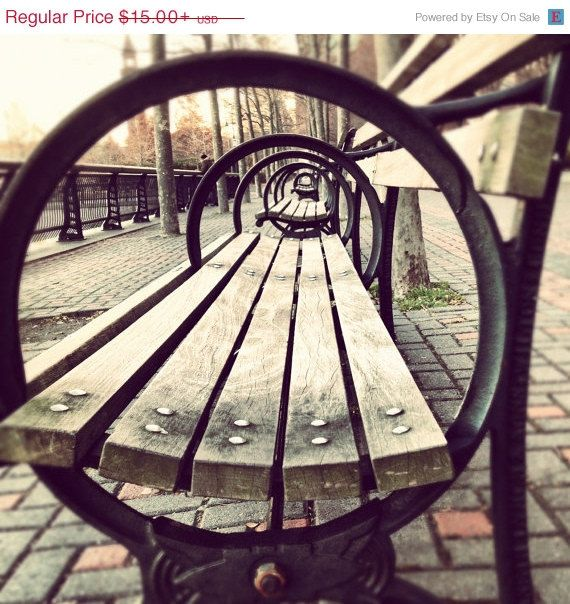 New York City print...benches