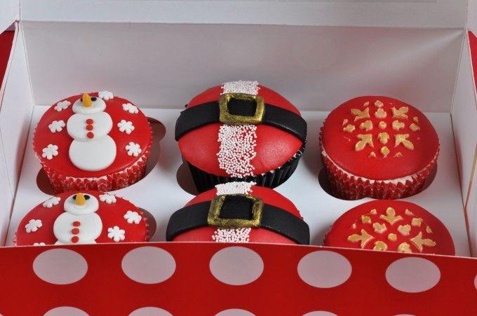 Christmas cupcakes - Cupcakes para Navidad