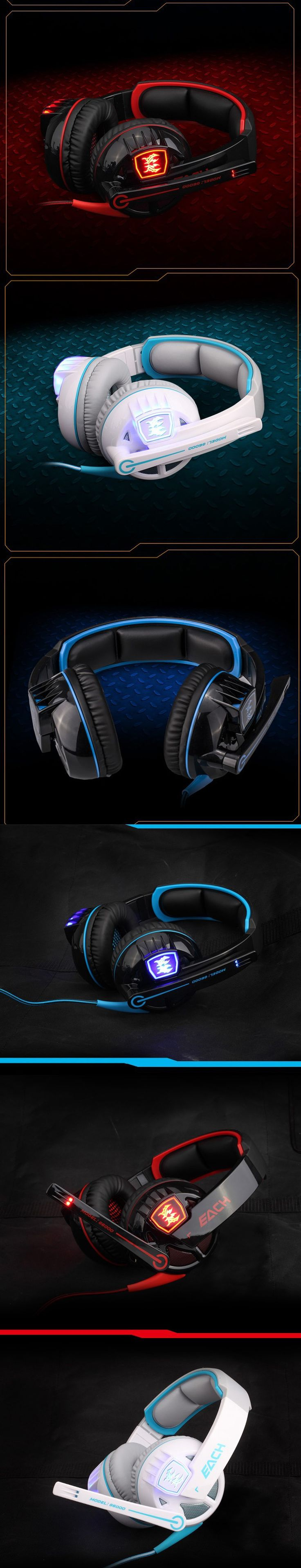 TOP Band EACH G6000 Stereo Gaming Headphone Headset Casque audio with Mic Volume Control Stereo Bass LED Light For PS4 PC Gamer   #HeadphonesGaming