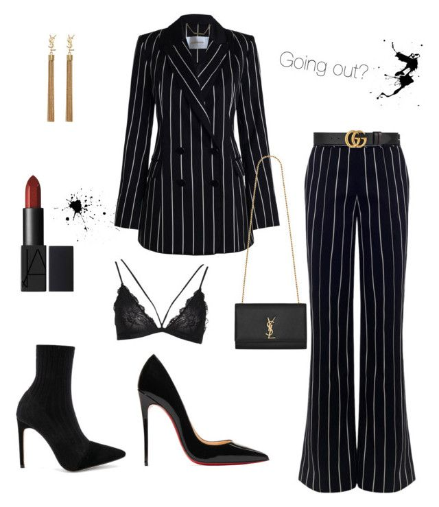 """Going out?"" by victoria-191 on Polyvore featuring Zimmermann, Christian Louboutin, Raye, Yves Saint Laurent and Gucci"