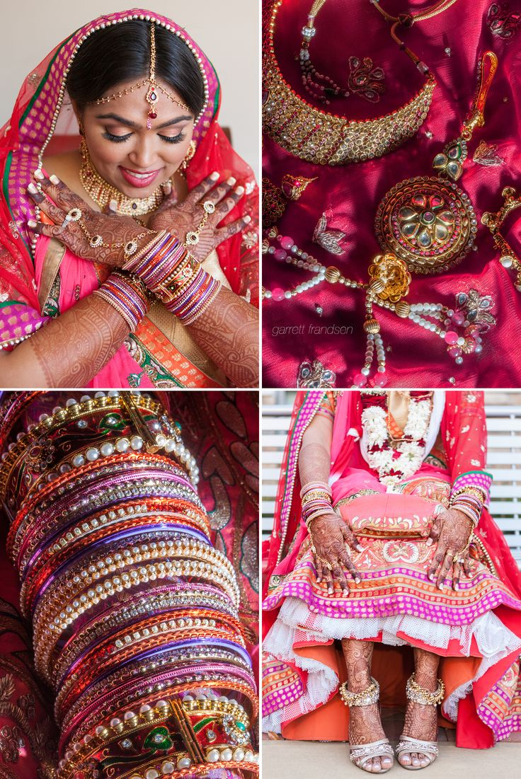 Indian Wedding Atlanta Garrett Frandsen #IndianWedding #Atlanta #garrettfrandsen Bride Bangles Shoes Mehndi Mendhi