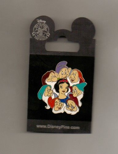 DISNEY PIN Snow White and Seven Dwarfs | eBay -- If I got into pin trading, I would only want Snow White ones.. :P