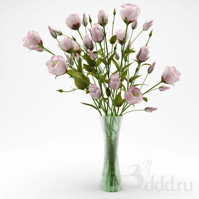 """""""PROFI"""" Эустома букет 3dsMax 2009 и ниже (Vray) : Растения : Файлы : 3D модели, уроки, текстуры, 3d max, Vray"""