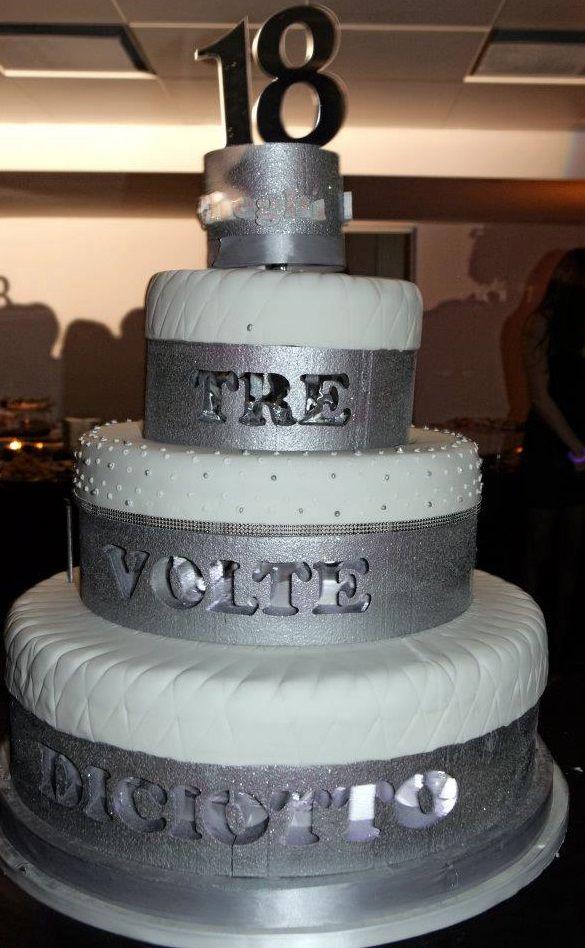 Torta Scenografica Color Argento Per Festa 18 Anni Cake Design