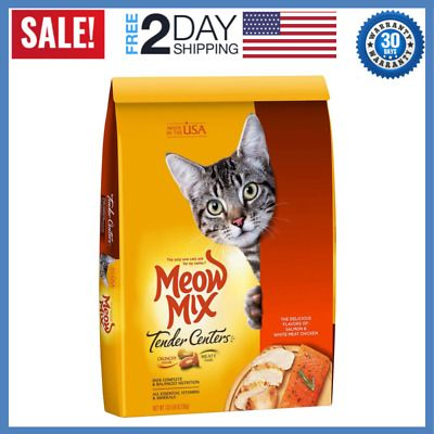 Details About Meow Mix Tender Centers Dry Cat Food Salmon Chicken 13 5 Lb Bag New Cat Food Best Cat Food