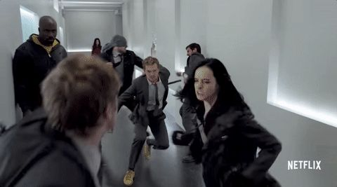 Jessica Jones, Luke Cage, Danny Rand and Matt Murdock