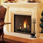 Lennox Montebello DV Gas Fireplace with Red Herringbone Liner