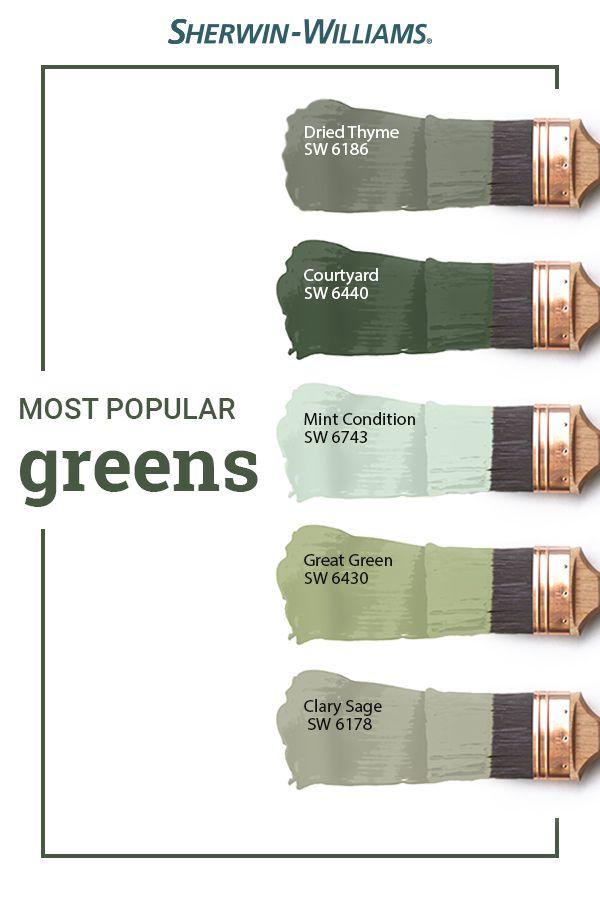 Popular Green Paint Colors Green Paint Colors Paint Colors For