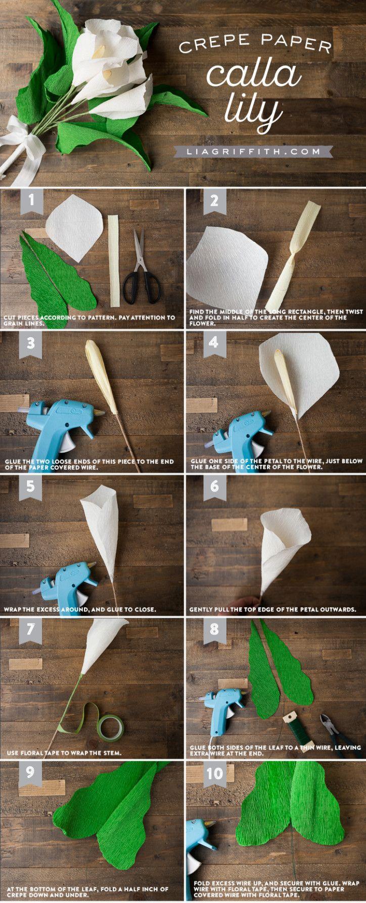 Crepe Paper Calla Lily | Lia Griffith