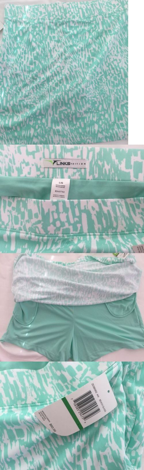 Skirts Skorts and Dresses 179003: Links Edition Beach Glass Golf Skirt Teal/Light Green With White Size Large New -> BUY IT NOW ONLY: $34.99 on eBay!