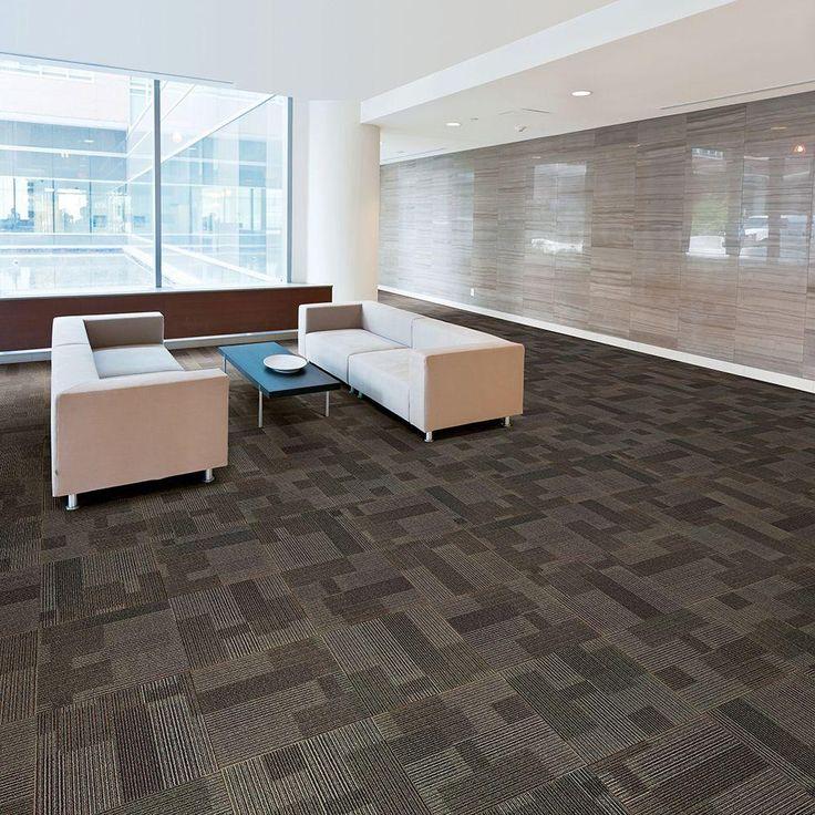 Rockefeller Wrought Iron 19.7 In. X 19.7 In. Carpet Tile (20 Tiles/