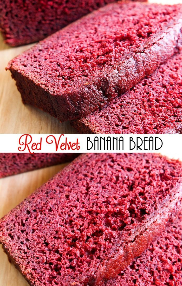 Red Velvet Banana Bread is so easy to make. It is so moist and flavorful and addicting. | mandysrecipeboxblog.com