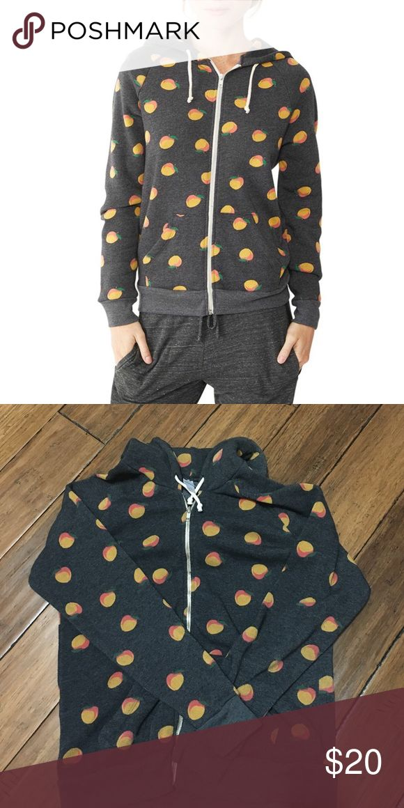 Alternative Apparel Peach Hoodie Great plushy Alternative Apparel hoodie with the best peach print. Barely worn, in great condition. 🍑🍑🍑 Alternative Apparel Sweaters