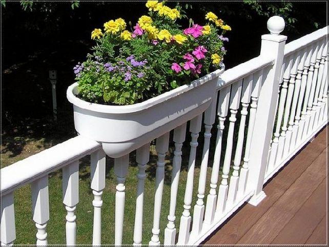 Deck Rail Planter Box Ideas Railing Flower Boxes Deck 400 x 300