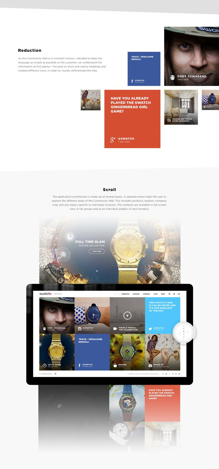 Swatch redesign on Behance