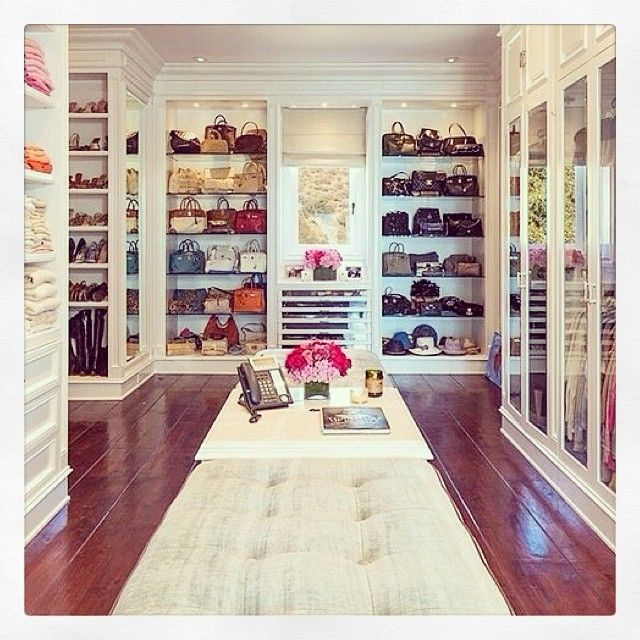 Incredible Walk In Closet With All Of The Handbags