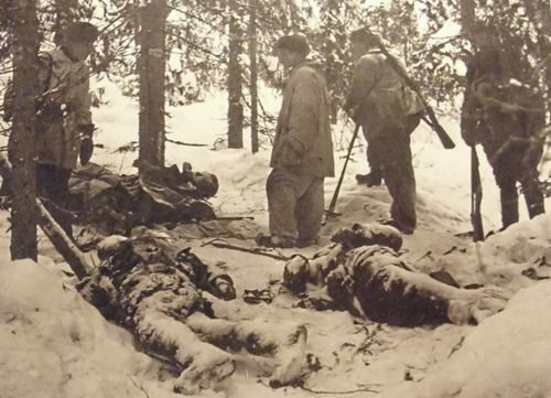 Winter War - Finnish troops and Russian casualties