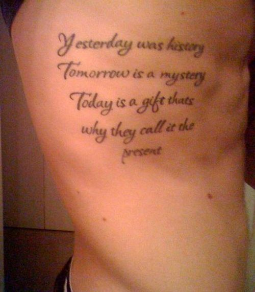 Never Regret Anything That Made You Smile Quote Tattoo: 25+ Best Ideas About Rib Quote Tattoos On Pinterest