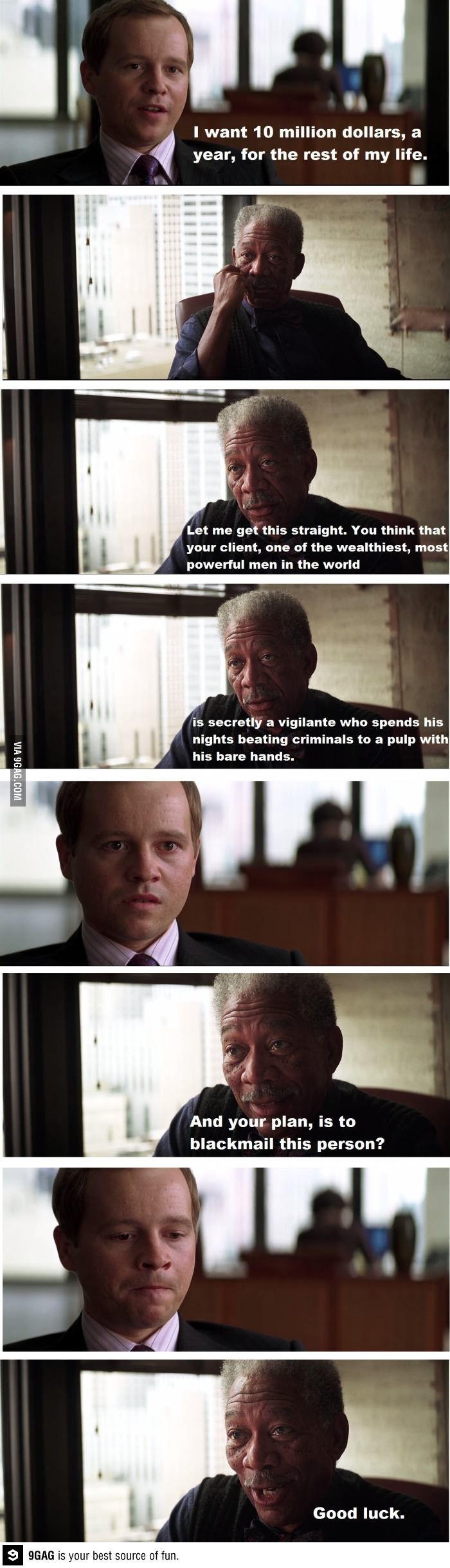 One of my favorite scenes from The Dark Knight. Hilarious... :D